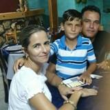 Famiglia a PLaya Girón, Matanzas, Cuba