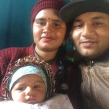 Familia anfitriona en Buddha Chowk, Pokhara, Nepal
