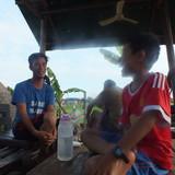 Familia anfitriona en chreav market, Krong Siem Reap, Cambodia