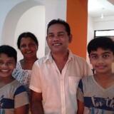 Famille d'accueil à Makuluwa, Galle, Sri Lanka