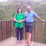 Família anfitriã em Heeressagala, Kandy, Sri Lanka