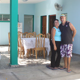 Familia anfitriona en Ciénaga de Zapata, Cuba