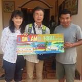 Familia anfitriona en Roluos, Siem reap town, Cambodia