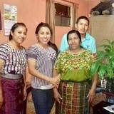 Famiglia a Jucanya, Panajachel, Guatemala