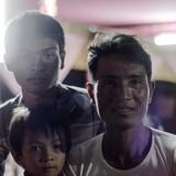 Familia anfitriona en countryside, Takeo province, Cambodia