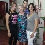 Famiglia a Tivolí, Santiago de Cuba, Cuba