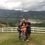 Familia anfitriona en El trébol, San José, Costa Rica