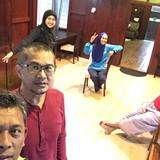 Familia anfitriona en Kota, Rembau, Malaysia
