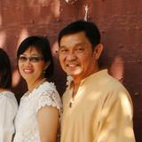 Família anfitriã em A.Sarapee, Chiangmai, Thailand