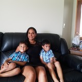 Familia anfitriona en Halswell , Christchurch, New Zealand