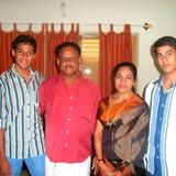Familia anfitriona en Chakka, Thiruvanathapuram, India