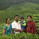 Familia anfitriona en Friendly people, Fortkochi, India