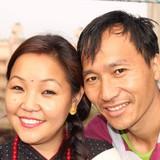 Famiglia a Nayabazar, Kathmandu, Nepal