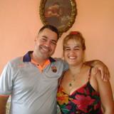 Familia anfitriona en centro, Trinidad, Cuba
