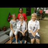 Familia anfitriona en Narayangarh , Nepal