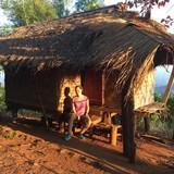 Família anfitriã em T Vavee, A. Mae Suai, Chiang Rai, Thailand