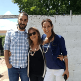 Familia anfitriona en La Aguada, Montevideo, Uruguay