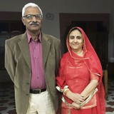 Famiglia a Bai Ji Ka Talab, jodhpur, India