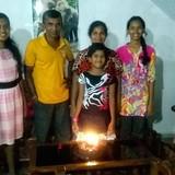 Famille d'accueil à galle, galle, Sri Lanka