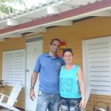 Familia anfitriona en La Colchoneria, Viñales, Cuba