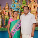 Gastfamilie in Nataraja Temple, Chidambaram, India
