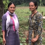Familia anfitriona en Thanedar Chowk, Gunjunagar, Nepal