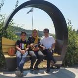 Host Family in khabarnegar park, Qazvin, Iran