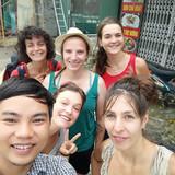 Famille d'accueil à Van Long nature reserve, NInh Binh, Vietnam