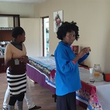 Famiglia a Semongkong, Maseru, Lesotho