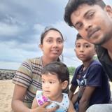 Sri LankaHikkaduwa, Ambalangoda的房主家庭