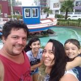 Familia anfitriona en Jardim Primavera, Rio Claro, Brazil